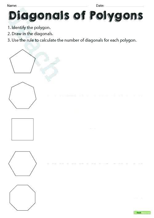 Polygons Worksheets 5th Grade Polygon Worksheets Regular Polygons Shapes Printable Upgrade