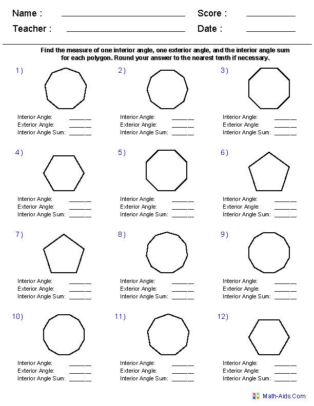 Polygons Worksheets 5th Grade Worksheets Naming Polygons In 2020 with Images