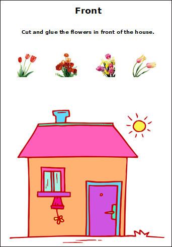 Positional Words Worksheet for Kindergarten Positional Words Worksheets for Preschool and Kindergarten