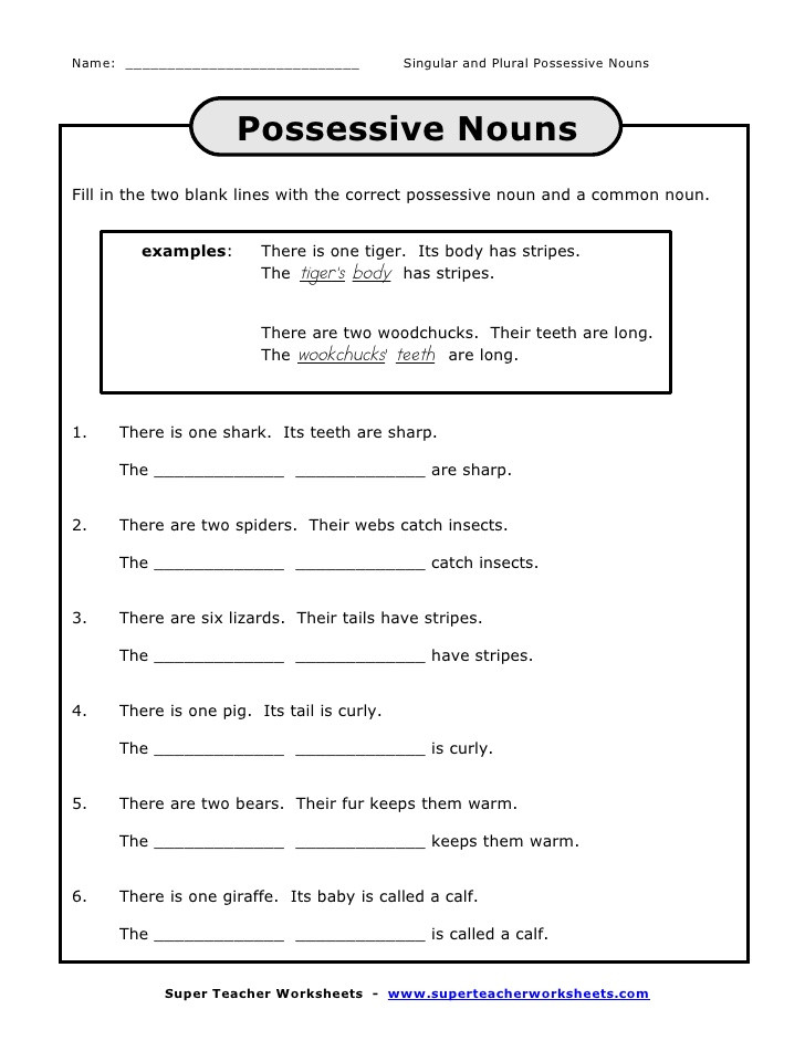 Possessive Pronoun Worksheet 3rd Grade Inquired Project Based Learning