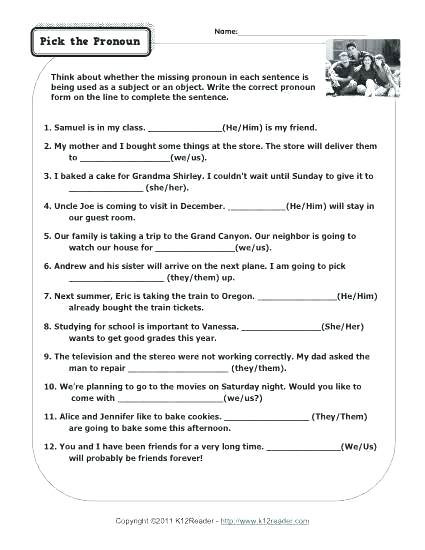 Possessive Pronoun Worksheets 5th Grade Pronoun Practice Worksheets for 6th Grade Possessive