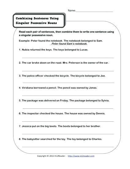 Possessive Pronouns Worksheet 5th Grade Possessive Nouns Worksheets Grade 4 – Keepyourheadup