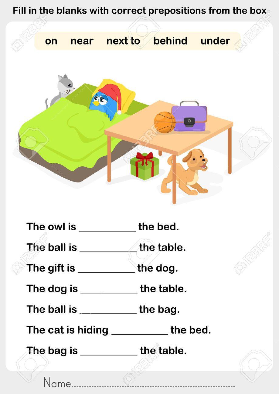 Preposition Worksheets for Grade 1 Image Result for Preposition Worksheets In On Under มี
