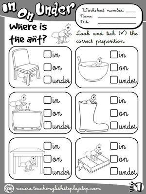 Preposition Worksheets for Grade 1 Place Prepositions Worksheet 1 B&w Version