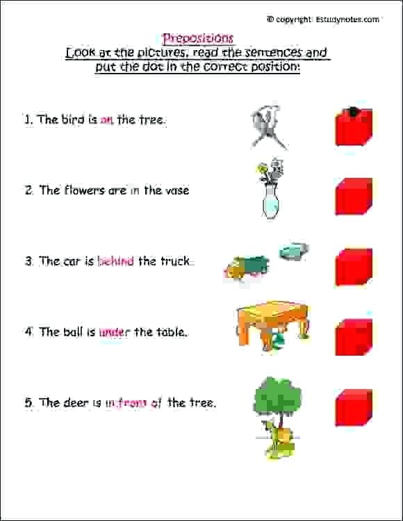 Preposition Worksheets for Grade 1 Prepositions Worksheets for Grade 1 – Leter