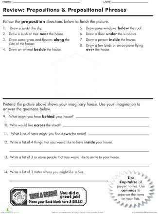 Prepositional Phrase Worksheet 4th Grade Prepositional Phrases Worksheets Diagramming Prepositional