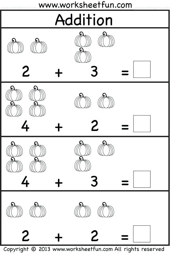Preschool Addition Worksheets Printable Adding for Kindergarten Addition Worksheets Free Printable