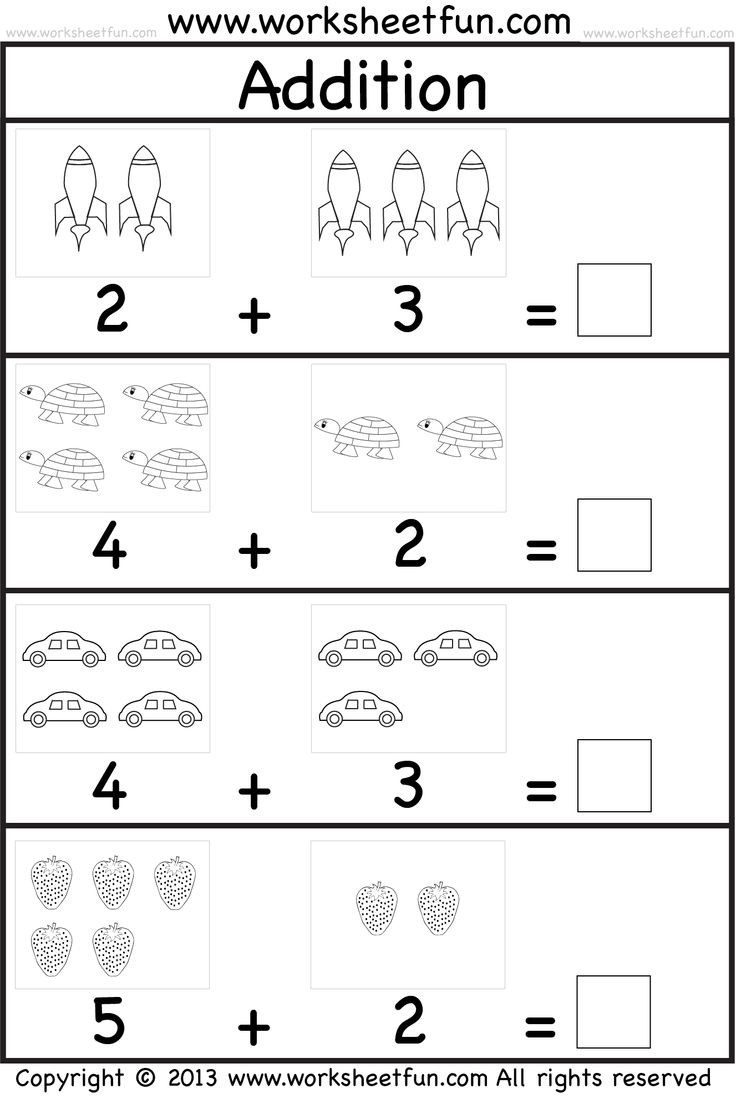 Preschool Addition Worksheets Printable Kindergarten Math Worksheets Pdf to Printable Kindergarten