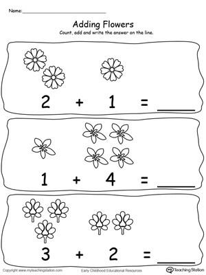 Preschool Addition Worksheets Printable Preschool Addition Printable Worksheets
