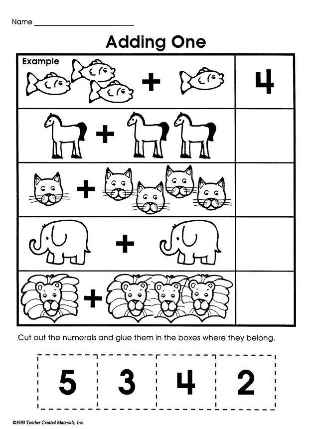 Preschool Addition Worksheets Printable Simple Addition Worksheets Kindergarten & Math Worksheets