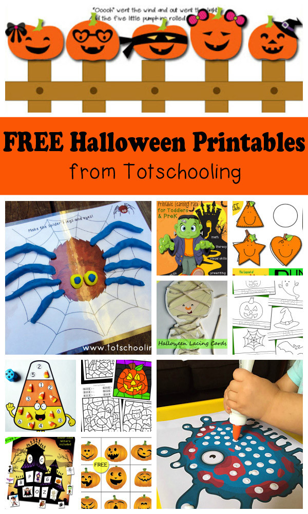 Preschool Halloween Worksheets Free Free Halloween Printables for Kids