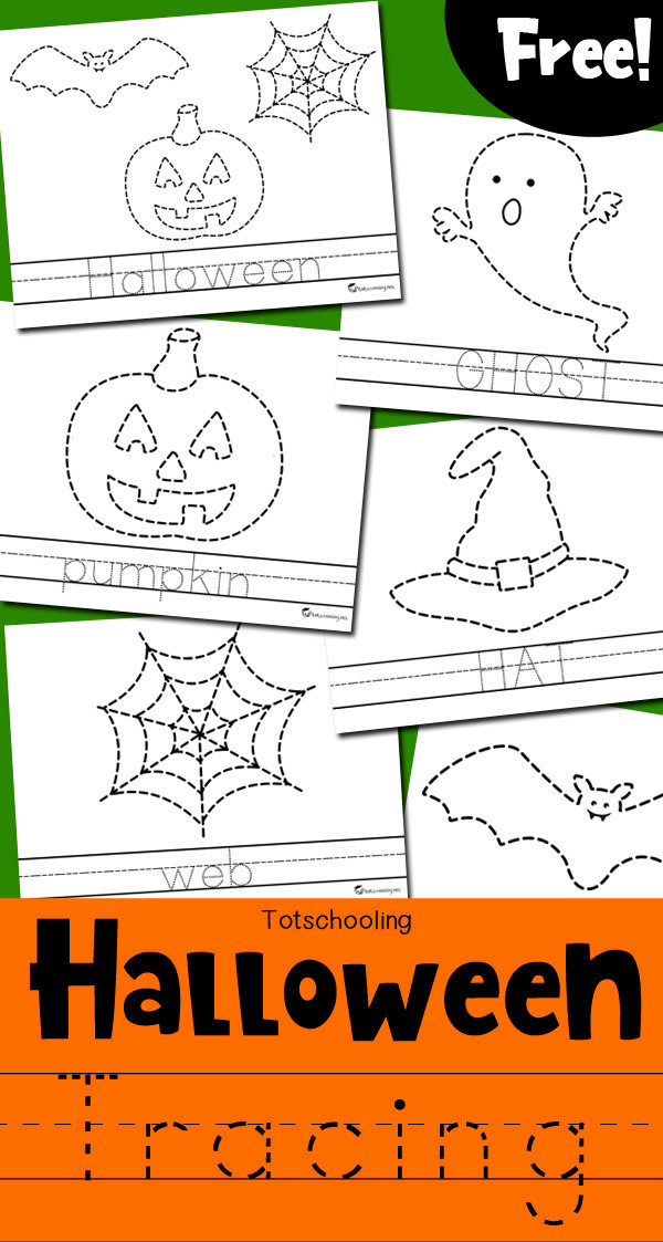 Preschool Halloween Worksheets Free Halloween Tracing Worksheets