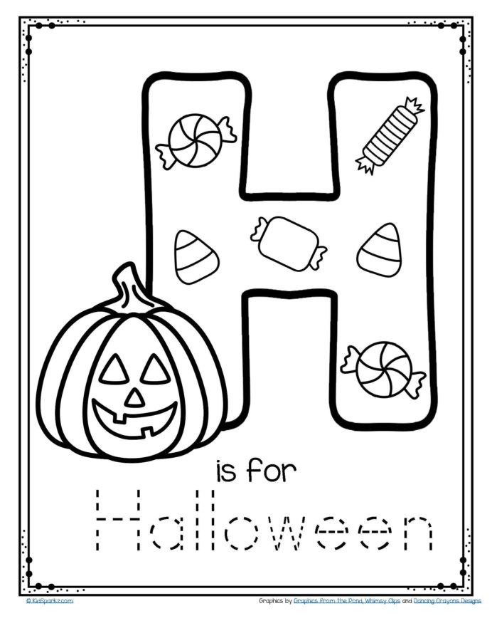 Preschool Halloween Worksheets Free Letter is for Halloween Trace and Color Printable Free