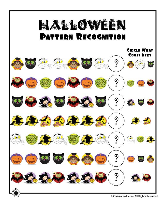Preschool Halloween Worksheets Free Preschool Worksheets for Halloween