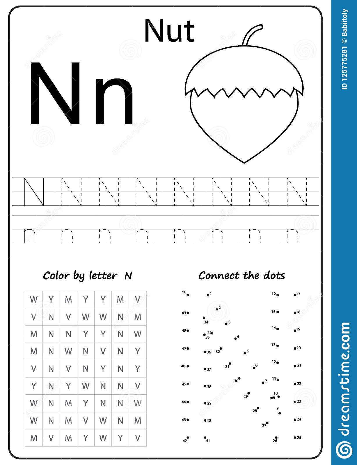 Preschool Letter N Worksheets Writing Letter N Worksheet Writing A Z Alphabet
