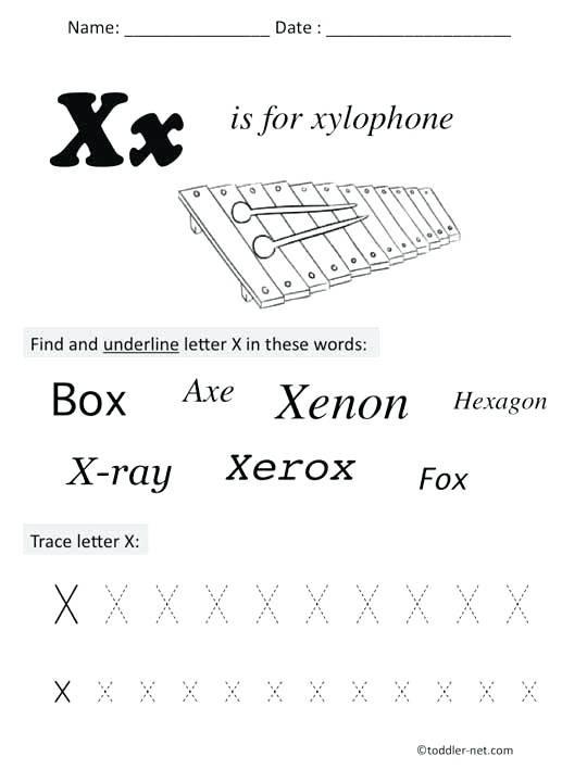 Preschool Letter X Worksheets Letter X Worksheets for Preschool Preschool Letter X Free