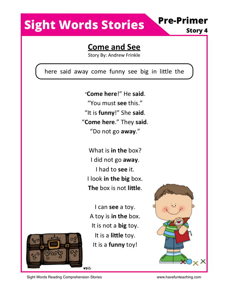 Preschool Reading Comprehension Worksheets Preschool Reading Prehension Worksheets