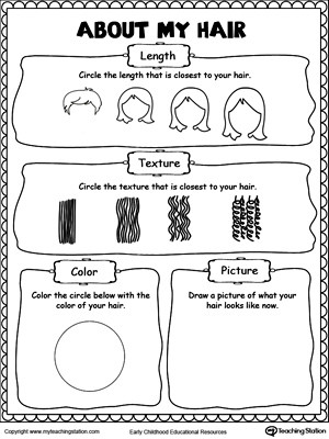 About My Hair Worksheet