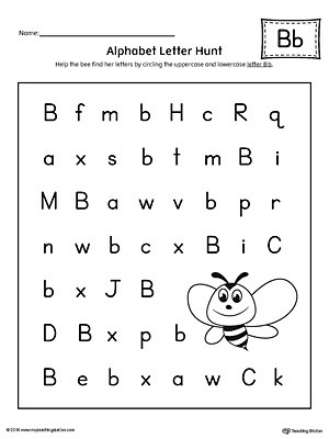 Preschool Worksheets Letter B Alphabet Letter Hunt Letter B Worksheet