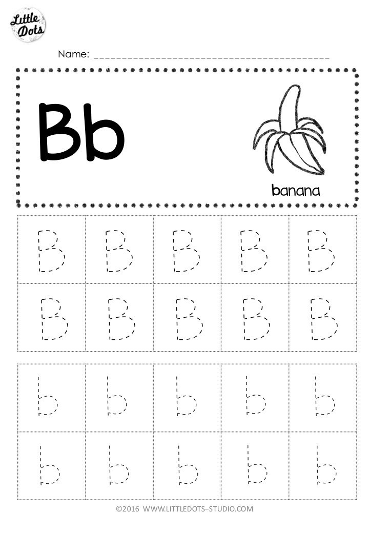 Preschool Worksheets Letter B Free Letter B Tracing Worksheets