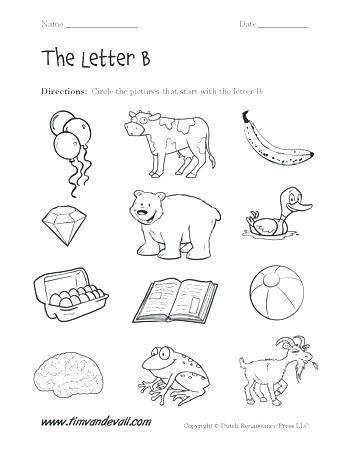 Preschool Worksheets Letter B Letter B Activities Printable Letter B Preschool Activities