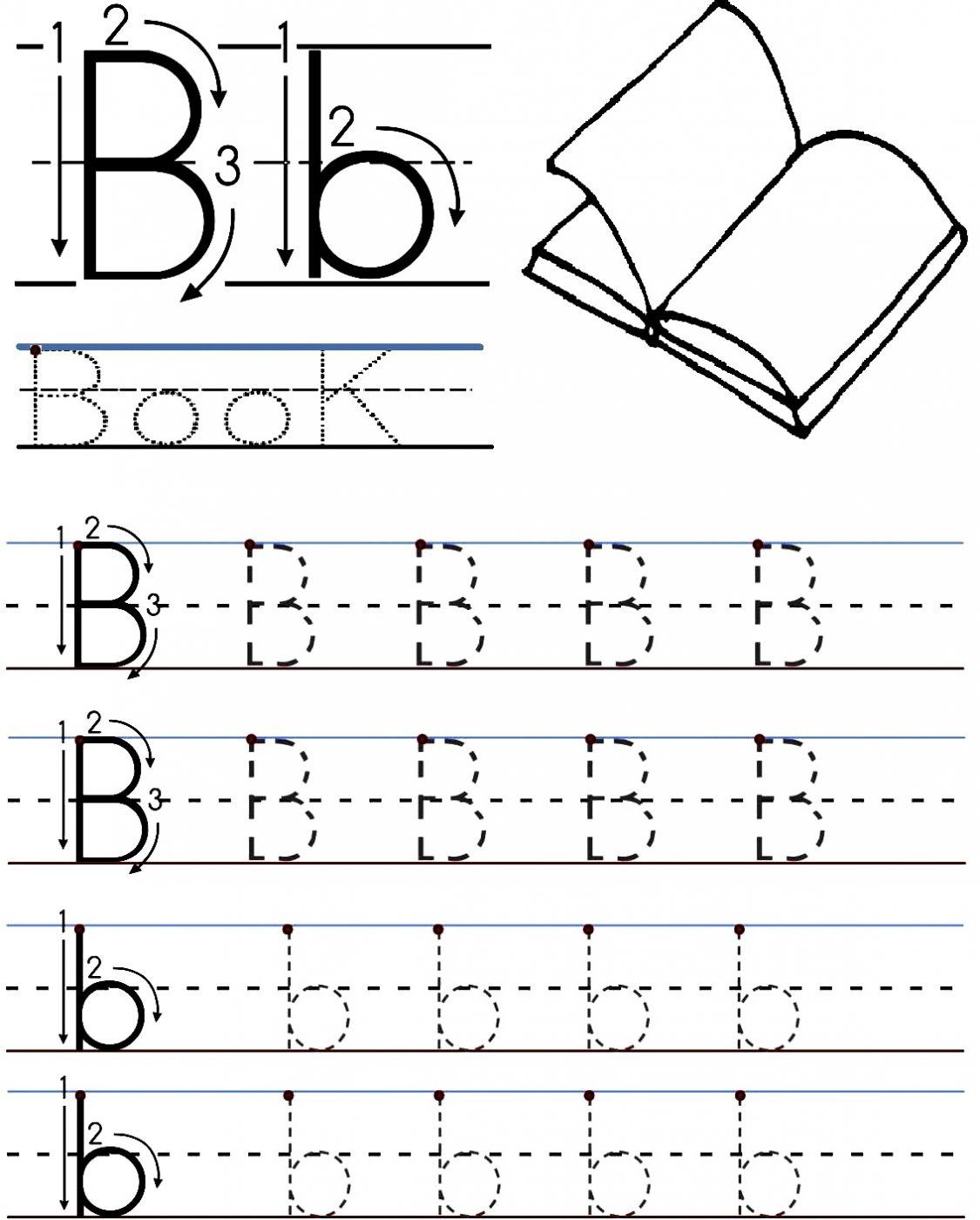 Preschool Worksheets Letter B Letter B Worksheets for Free Download Letter B Worksheets