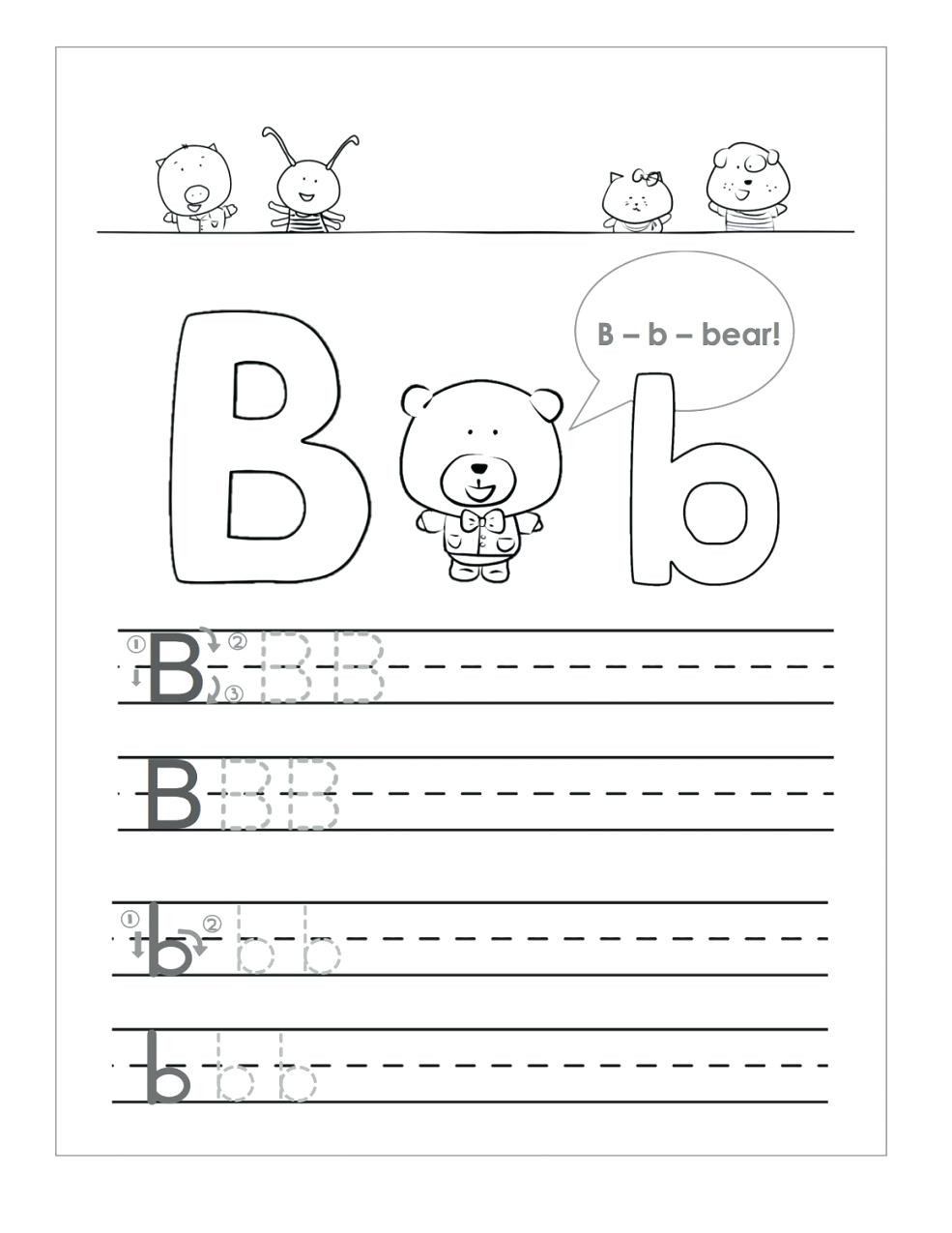 Preschool Worksheets Letter B Letter B Worksheets to Printable Letter B Worksheets