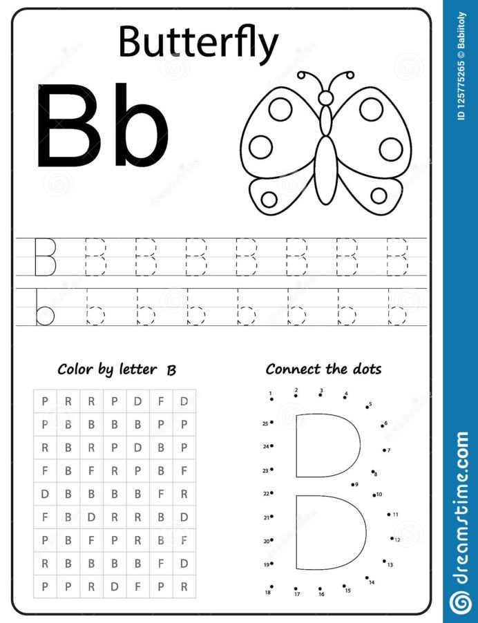 Preschool Worksheets Letter B Writing Letter Worksheet Alphabet Exercises Game Learning