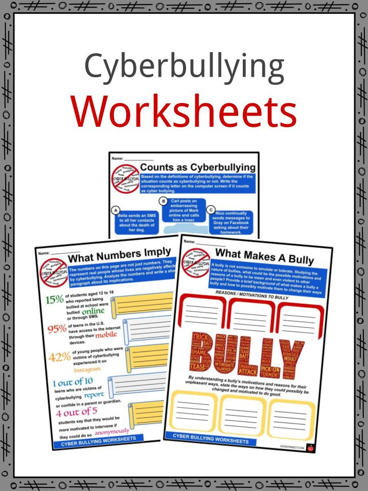 Printable Bullying Worksheets Cyberbullying Facts Worksheets & Effects for Kids
