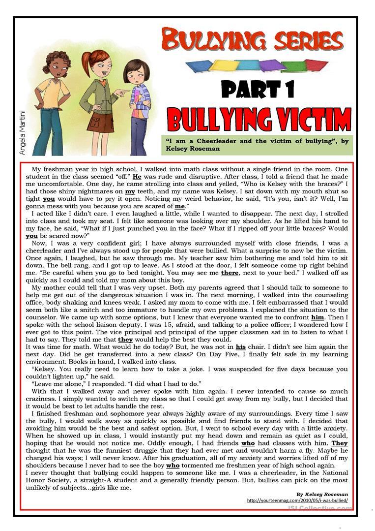 Printable Bullying Worksheets English Esl Bullying Worksheets Most Ed 45 Results