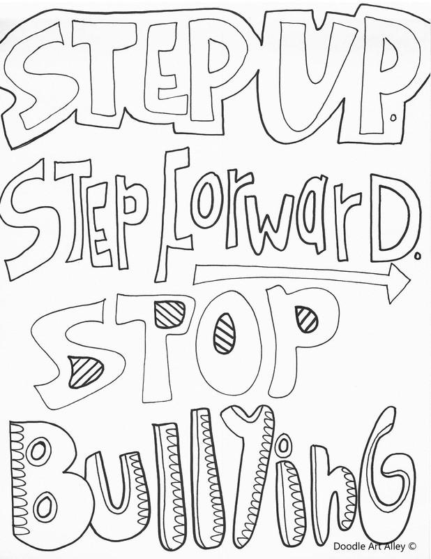 Printable Bullying Worksheets No Bullying Coloring Classroom Doodles Worksheets orig Free