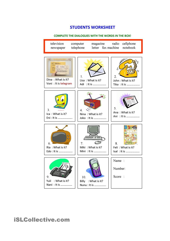 Printable Computer Worksheets Means Of Munication Worksheet