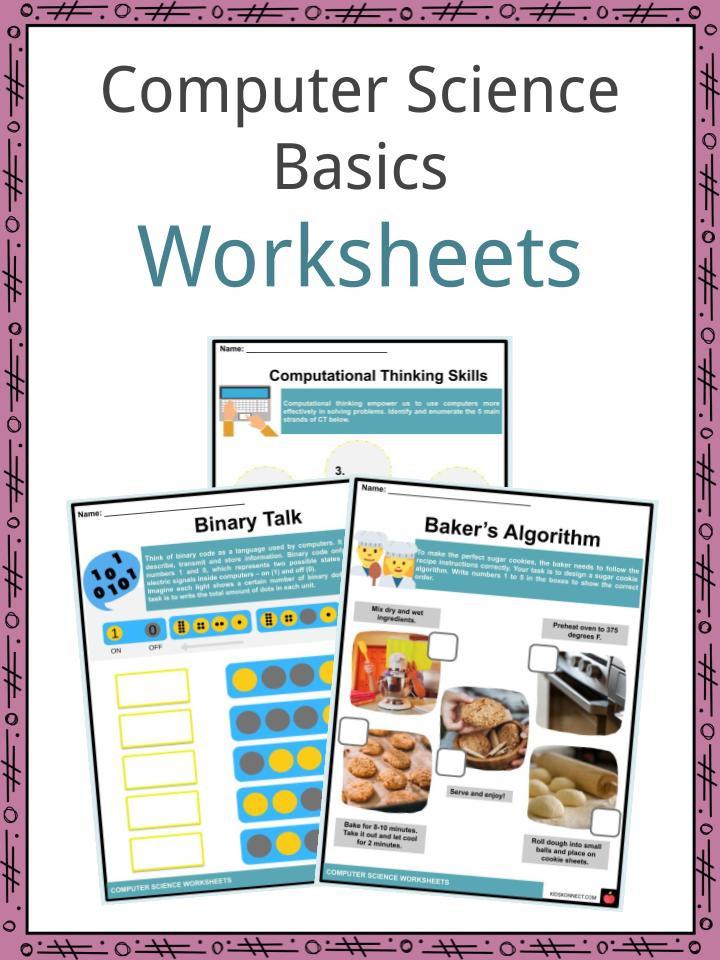 Printable Computer Worksheets Puter Science Basics Facts & Worksheets for Kids