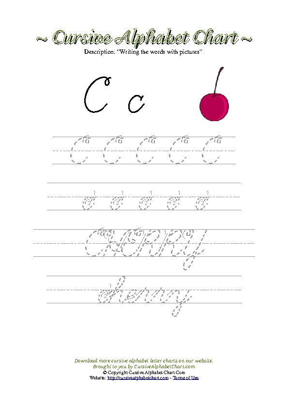 Printable Cursive Alphabet Chart Cursive Alphabet Charts for Kids Free Printable Cursive