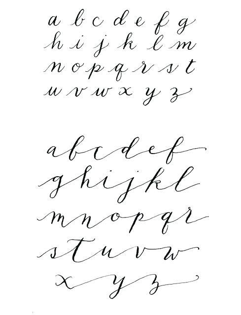 Printable Cursive Alphabet Chart Cursive Alphabet Sheet Modern Cursive Alphabet Chart