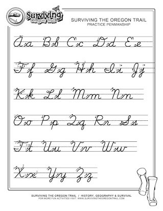 Printable Cursive Alphabet Chart Free Print Out Of Cursive Alphabet