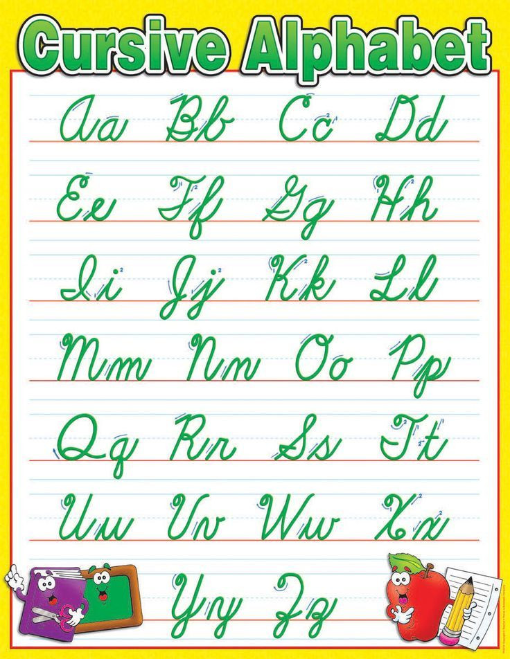 Printable Cursive Alphabet Chart Handwriting Chart Cursive