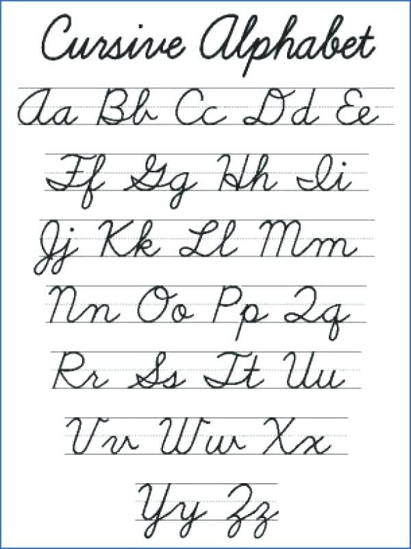 Printable Cursive Alphabet Chart Printable Cursive – Garpuub