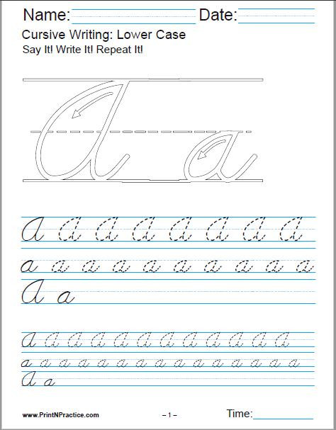Printable Cursive Alphabet Chart Worksheet Cursive Writing Worksheetset Sentences Advanced