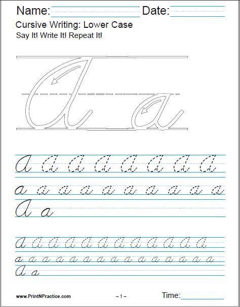Printable Cursive Writing Worksheets 50 Cursive Writing Worksheets ⭐ Alphabet Sentences Advanced