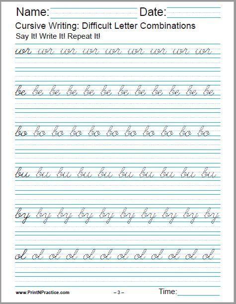 Printable Cursive Writing Worksheets 50 Cursive Writing Worksheets ⭐ Alphabet Sentences