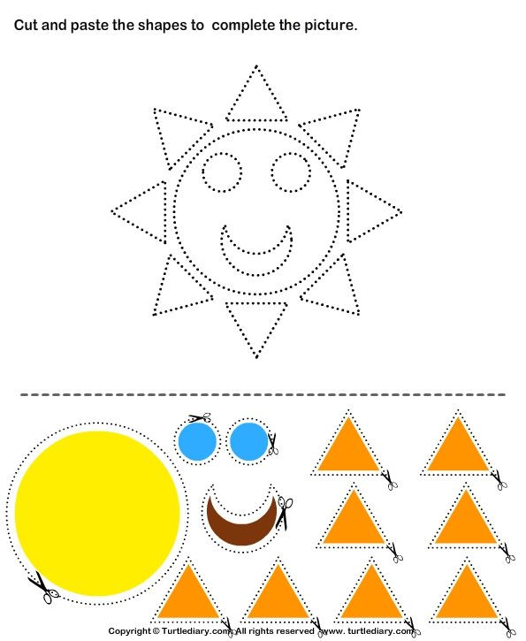 Printable Cut and Paste Worksheets Pin On Kindergarten Study