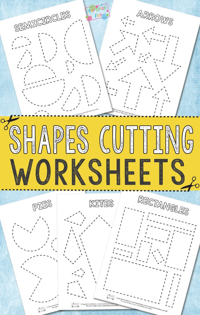 Printable Cutting Worksheets for Preschoolers Cutting Shapes Worksheets Itsy Bitsy Fun