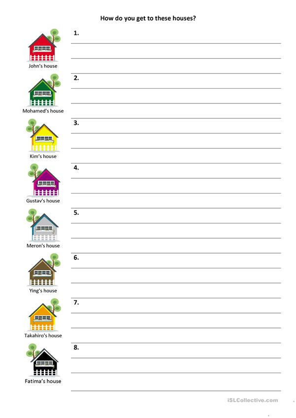 Printable Following Directions Worksheet Give and Follow Directions On A Map English Esl Worksheets