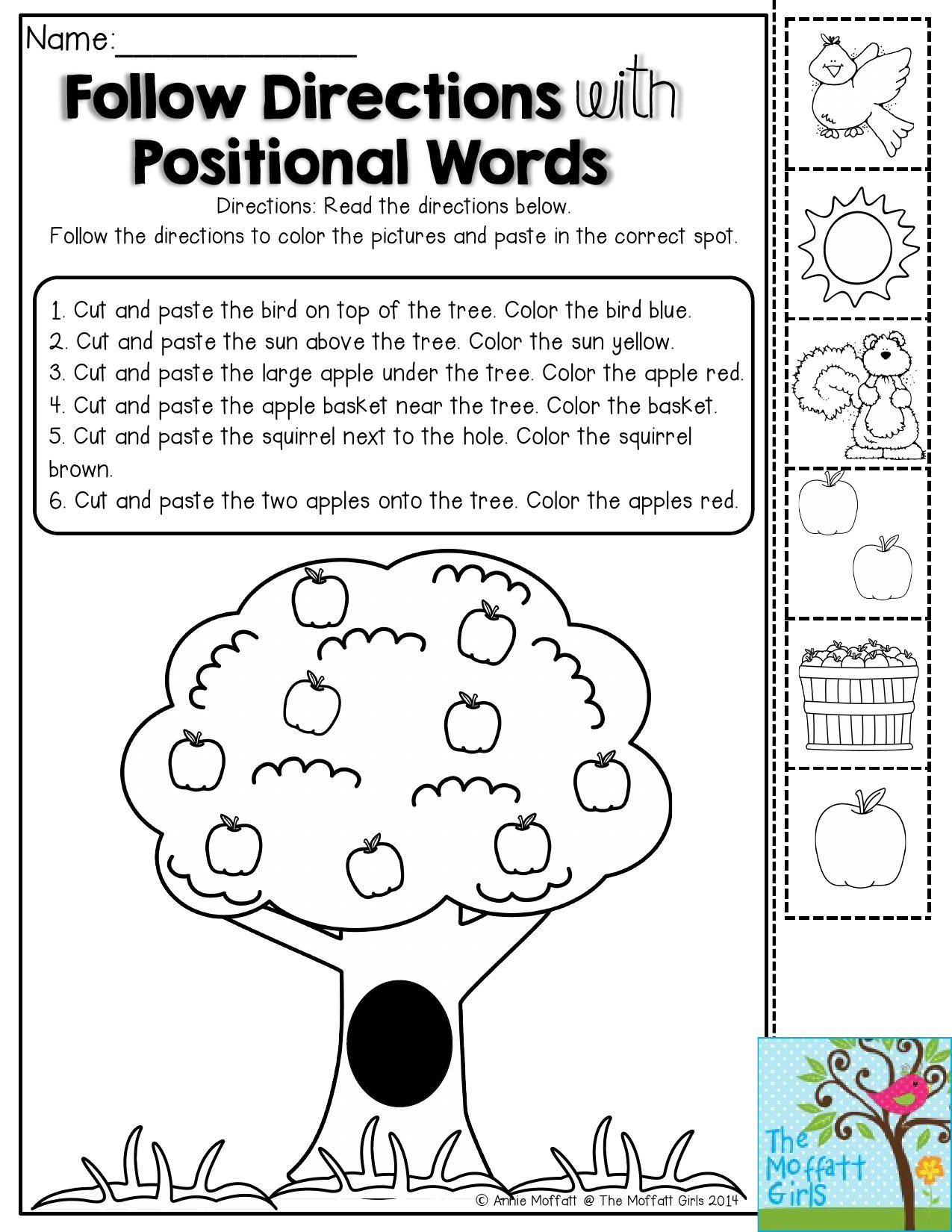 Printable Following Directions Worksheets 6 Following Directions Worksheets 4th Grade – Learning