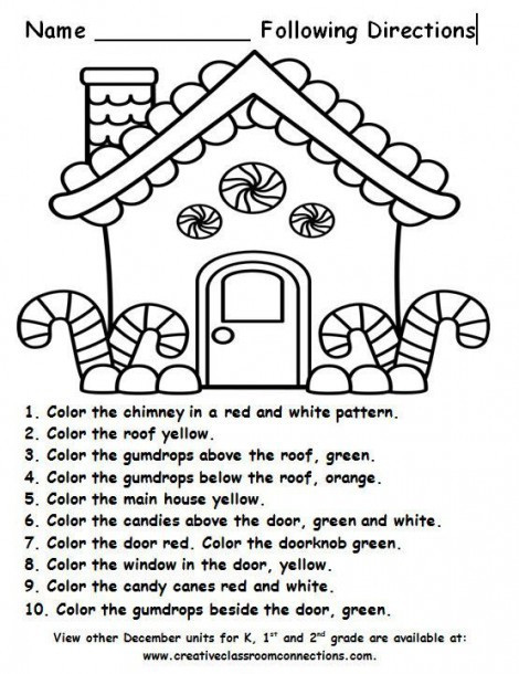 Printable Following Directions Worksheets Follow the Word Worksheets