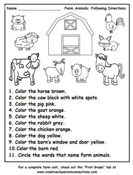 Printable Following Directions Worksheets Following Directions Worksheets for Preschool