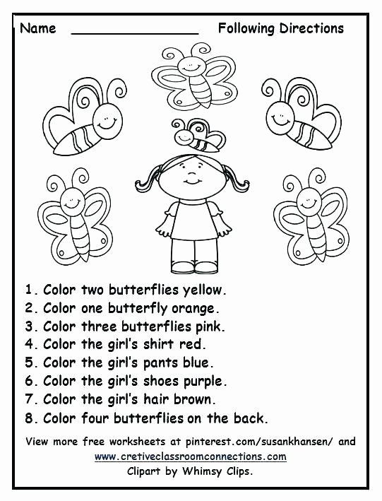 Printable Following Directions Worksheets Printable Following Directions Worksheets Multistep