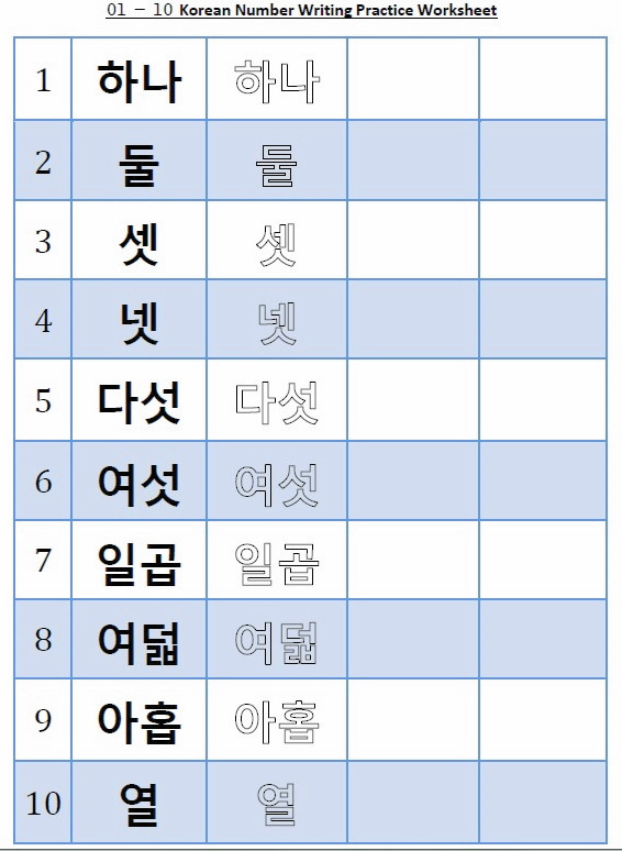 Printable Hangul Worksheets Writing Worksheet – Fresh Korean
