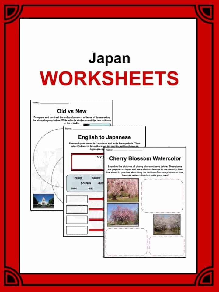 Printable Japanese Worksheets Japan Facts Worksheets History Culture & Geography for Kids